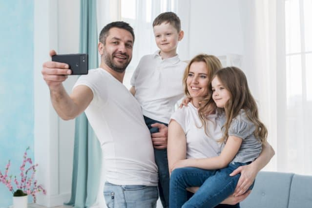 Psychologist in Mission Viejo - a selfie family photo